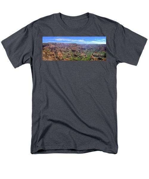Hawaii Kauai Waimea Canyon Beautiful Panorama Men's T-Shirt  (Regular Fit) by David Zanzinger