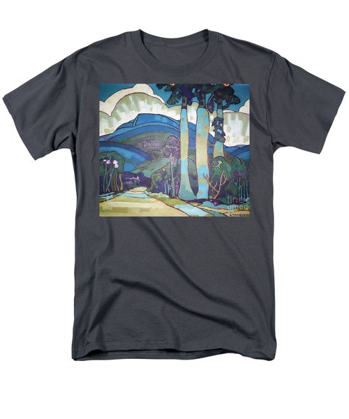 Men's T-Shirt  (Regular Fit) featuring the painting Hawaiian Landscape by Pg Reproductions