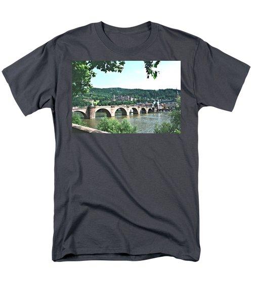 Heidelberg Schloss Overlooking The Neckar Men's T-Shirt  (Regular Fit) by Gordon Elwell