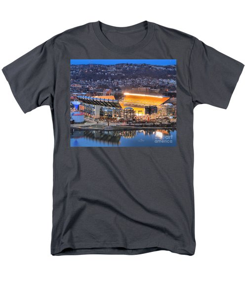 Heinz Field At Night Men's T-Shirt  (Regular Fit) by Adam Jewell