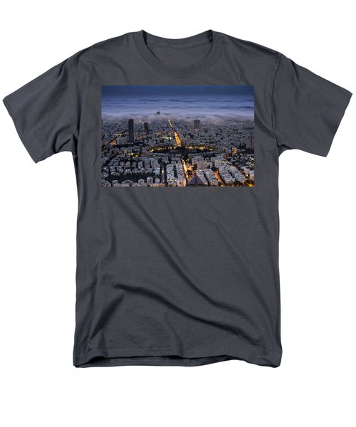 Men's T-Shirt  (Regular Fit) featuring the photograph Here Comes The Fog  by Ron Shoshani