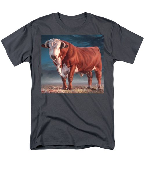 Hereford Bull Men's T-Shirt  (Regular Fit) by Hans Droog