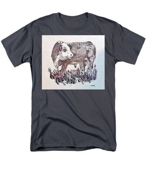 Polled Hereford Bull  Men's T-Shirt  (Regular Fit)