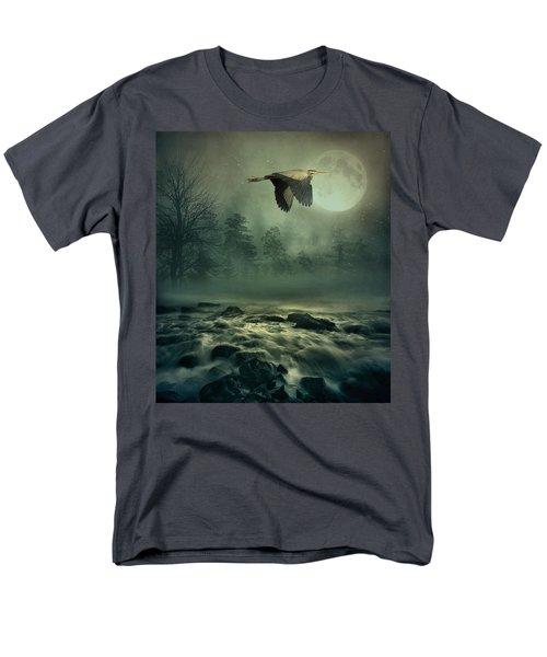 Heron By Moonlight Men's T-Shirt  (Regular Fit) by Andrea Kollo