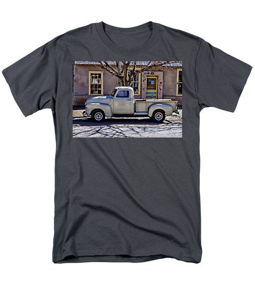 Men's T-Shirt  (Regular Fit) featuring the painting Hillsboro New Mexico 1949 Gmc 100 by Barbara Chichester