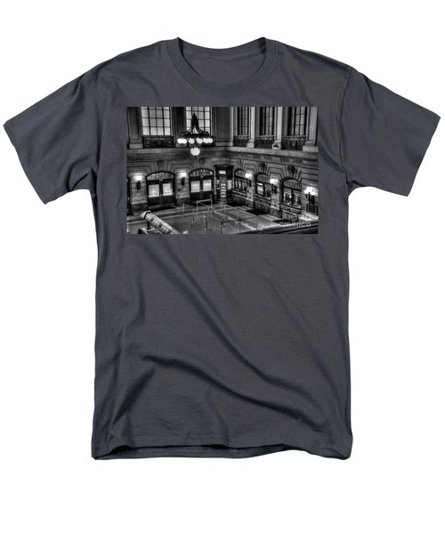 Hoboken Terminal Waiting Room Men's T-Shirt  (Regular Fit) by Anthony Sacco