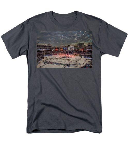 Hockey At Yankee Stadium Men's T-Shirt  (Regular Fit) by David Rucker