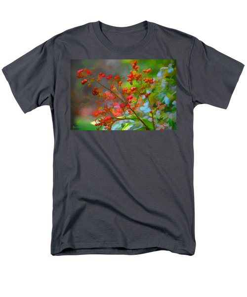 Holly Berry Men's T-Shirt  (Regular Fit) by Bonnie Willis