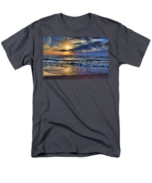 Hot April Sunset Saugatuck Michigan Men's T-Shirt  (Regular Fit) by Evie Carrier
