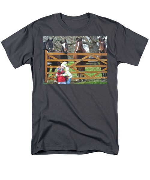 Men's T-Shirt  (Regular Fit) featuring the photograph Hugs And Kisses by Suzanne Oesterling