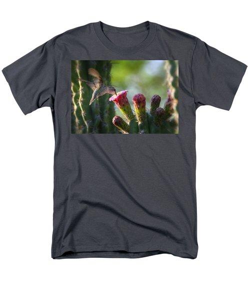 Hummingbird Breakfast Southwest Style  Men's T-Shirt  (Regular Fit) by Saija  Lehtonen