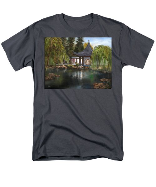 Huntington Chinese Gardens Men's T-Shirt  (Regular Fit) by LaVonne Hand