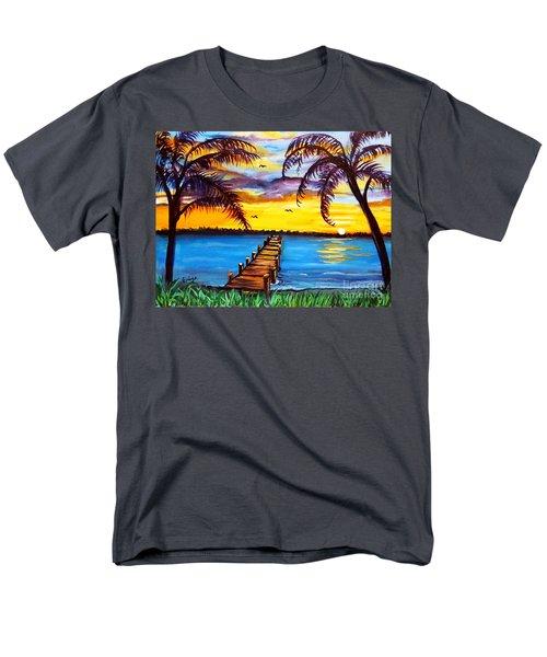 Men's T-Shirt  (Regular Fit) featuring the painting Hurry Sundown by Ecinja Art Works