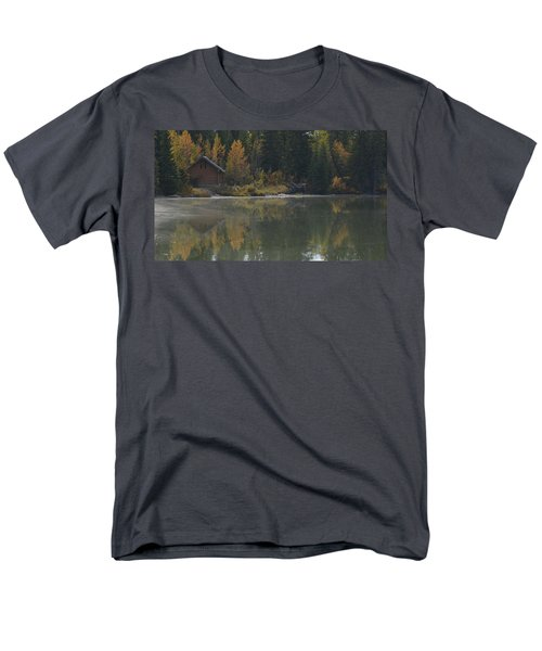 Hut By The Lake Men's T-Shirt  (Regular Fit) by Cheryl Miller