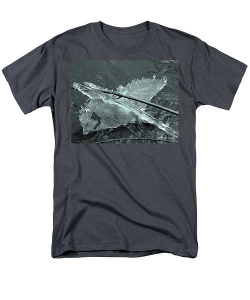 Men's T-Shirt  (Regular Fit) featuring the photograph Ice-bird On The River by Nina Silver