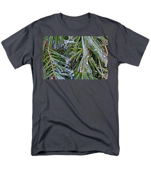 Ice On Pine Needles  Men's T-Shirt  (Regular Fit) by Daniel Reed