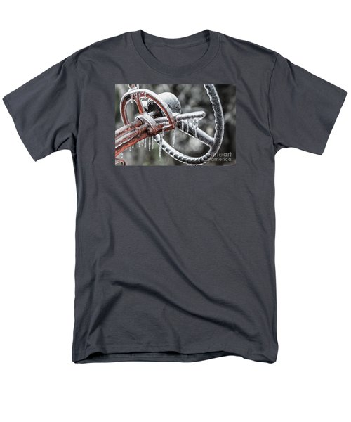 Men's T-Shirt  (Regular Fit) featuring the photograph Icy Allis- Chalmers Tractor by Debbie Green