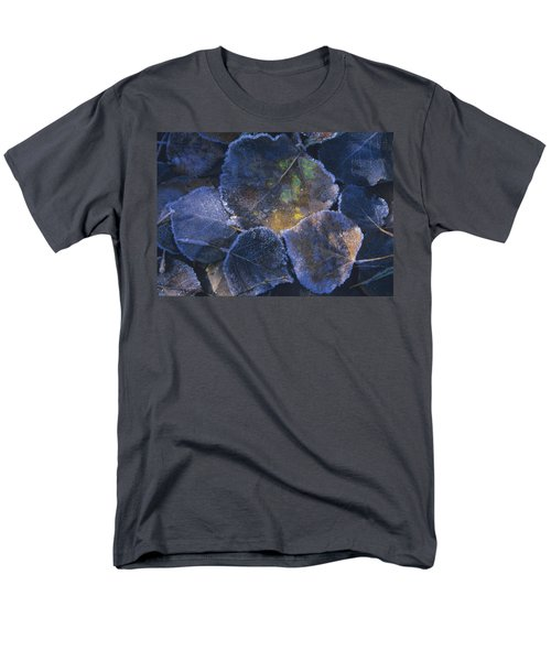 Icy Leaves Men's T-Shirt  (Regular Fit) by Susan Rovira