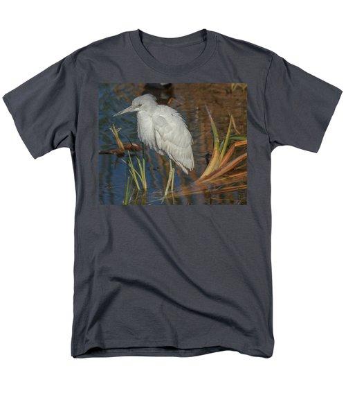 Immature Little Blue Heron Men's T-Shirt  (Regular Fit) by Jane Luxton