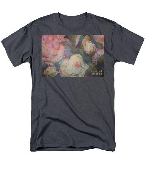 Men's T-Shirt  (Regular Fit) featuring the photograph Impressionistic Spring Bouquet by Dora Sofia Caputo Photographic Art and Design