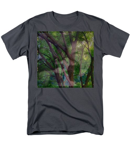 In The Forest Self-portrait With Ferret Men's T-Shirt  (Regular Fit) by Anna Porter