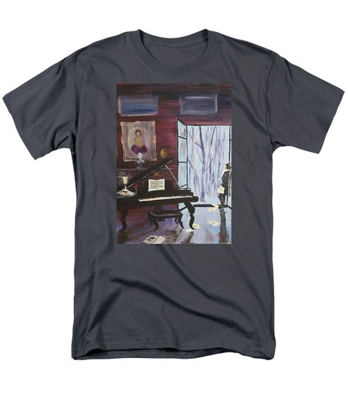 Men's T-Shirt  (Regular Fit) featuring the painting In The Still Of The Night by Alan Lakin