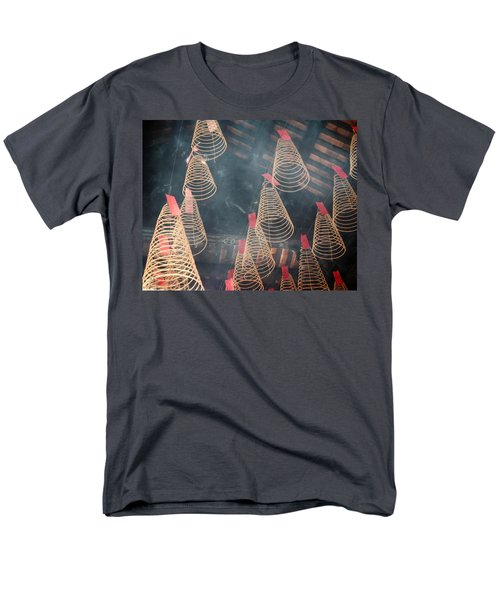 Men's T-Shirt  (Regular Fit) featuring the photograph Incense Coils by Lucinda Walter