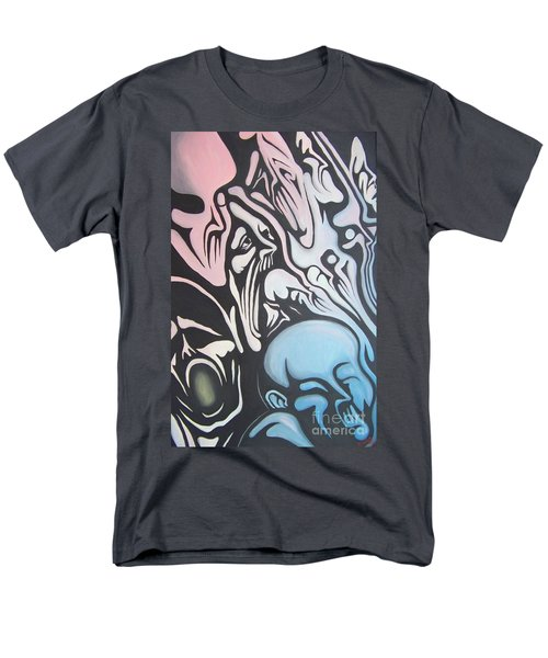 Men's T-Shirt  (Regular Fit) featuring the painting Intensity by Michael  TMAD Finney