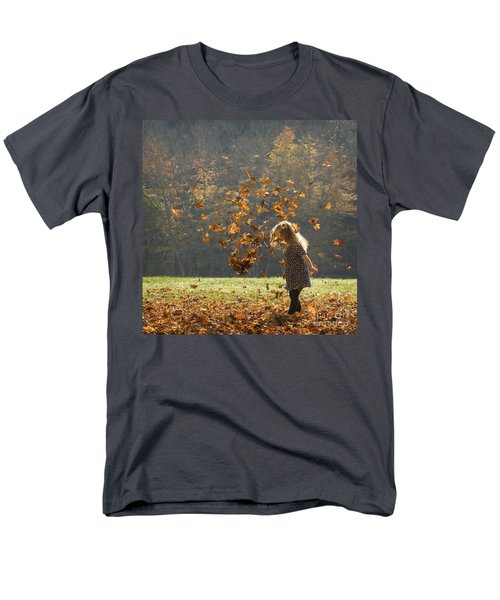 Men's T-Shirt  (Regular Fit) featuring the photograph It's Raining Leaves by Carol Lynn Coronios