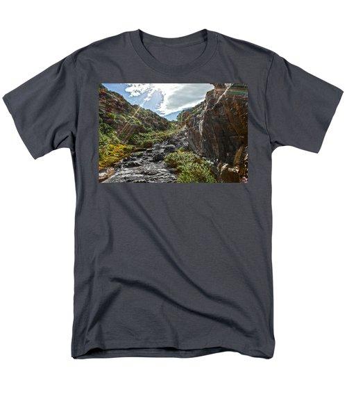Men's T-Shirt  (Regular Fit) featuring the photograph Its Raining Rainbows by Miroslava Jurcik