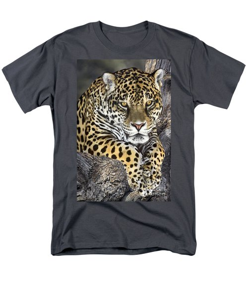 Jaguar Portrait Wildlife Rescue Men's T-Shirt  (Regular Fit) by Dave Welling