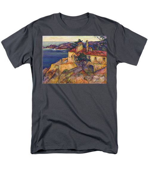 James House Carmel Highlands California By Rowena Meeks Abdy 1887-1945  Men's T-Shirt  (Regular Fit) by California Views Mr Pat Hathaway Archives