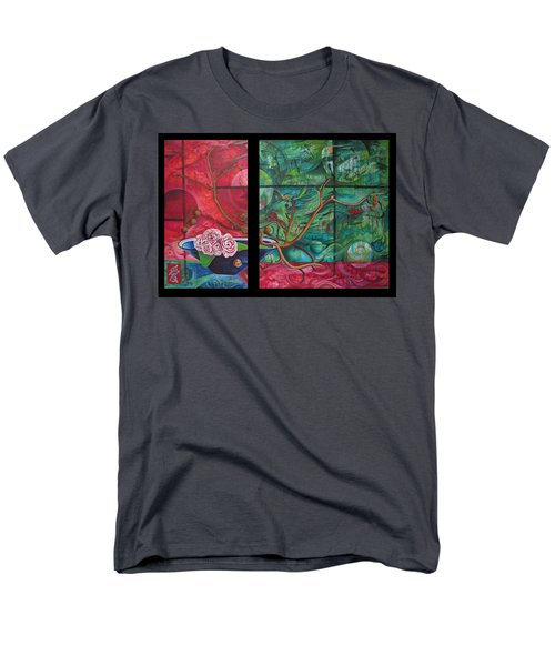 Men's T-Shirt  (Regular Fit) featuring the painting Japanesse Flower Arrangment by Joshua Morton
