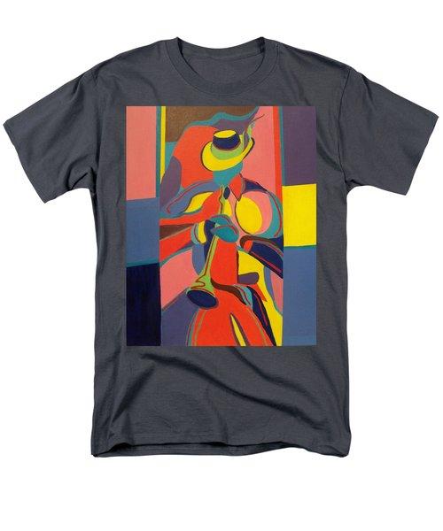 Jazzamatazz Horn Men's T-Shirt  (Regular Fit) by Angelo Thomas