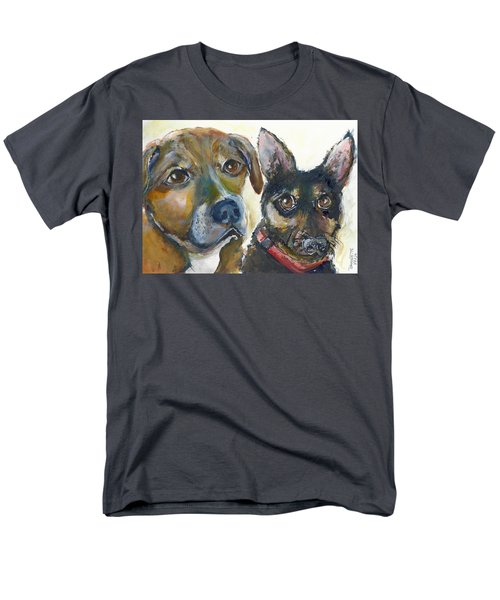 Men's T-Shirt  (Regular Fit) featuring the painting Jena And Dozer  by Bernadette Krupa