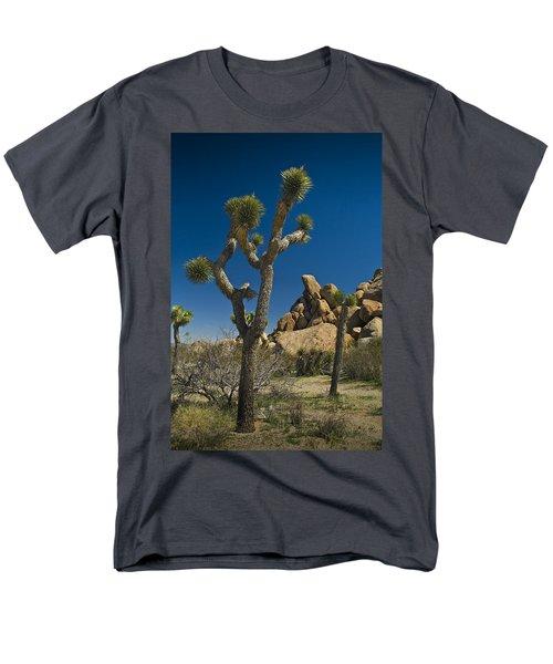 California Joshua Trees In Joshua Tree National Park By The Mojave Desert Men's T-Shirt  (Regular Fit) by Randall Nyhof