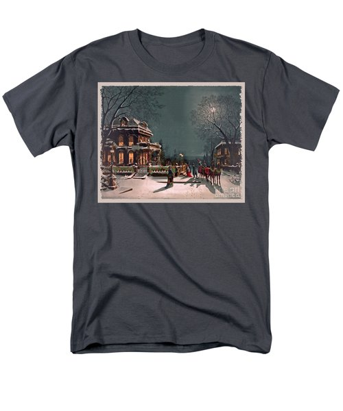 Men's T-Shirt  (Regular Fit) featuring the digital art Joy Of The Season by Lianne Schneider