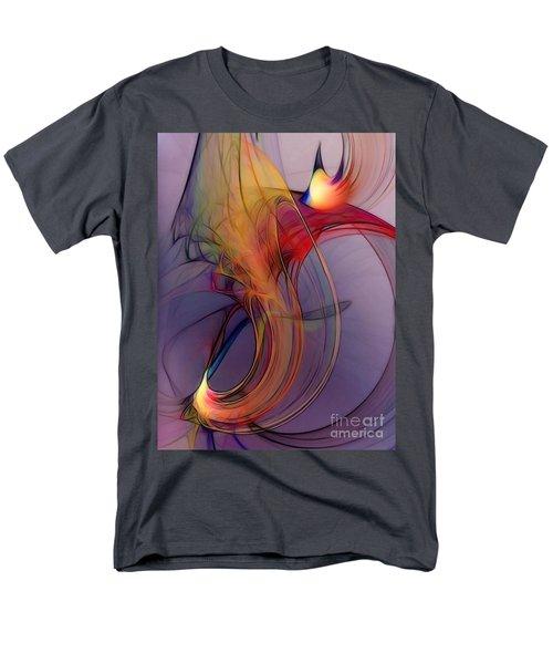 Joyful Leap-abstract Art Men's T-Shirt  (Regular Fit) by Karin Kuhlmann
