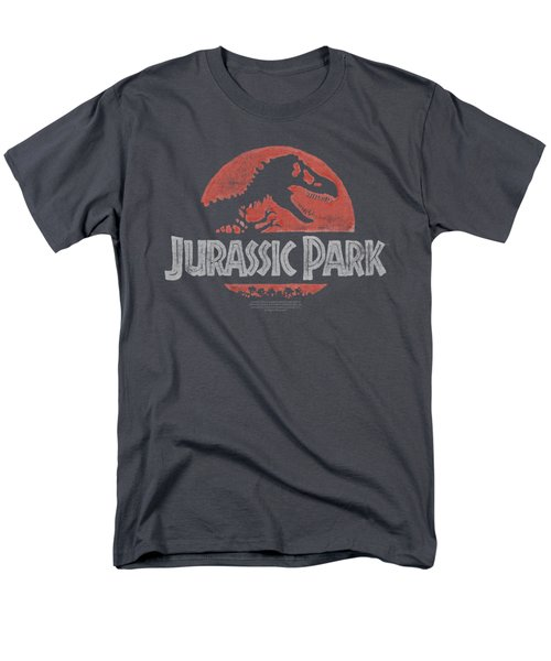Jurassic Park - Faded Logo Men's T-Shirt  (Regular Fit) by Brand A