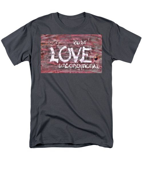 Just Love Unconditional  Men's T-Shirt  (Regular Fit) by Cathy  Beharriell