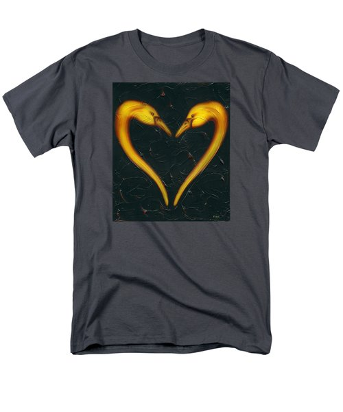 Men's T-Shirt  (Regular Fit) featuring the painting Kiss by Kenneth Clarke