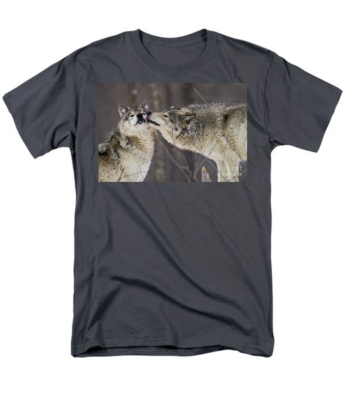 Kissy Face Men's T-Shirt  (Regular Fit) by Wolves Only