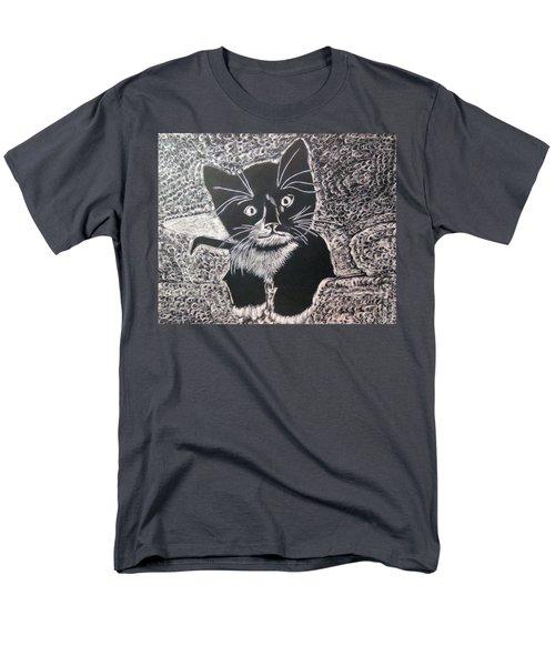 Kitty In Blanket Men's T-Shirt  (Regular Fit) by Lisa Brandel