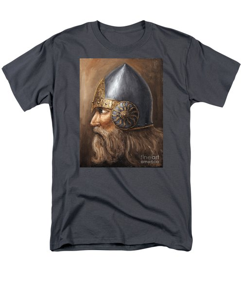 Men's T-Shirt  (Regular Fit) featuring the painting Knight by Arturas Slapsys
