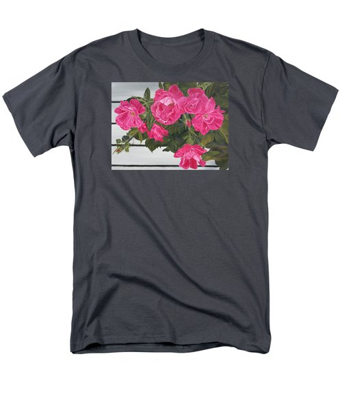 Knock Out Roses Men's T-Shirt  (Regular Fit) by Wendy Shoults