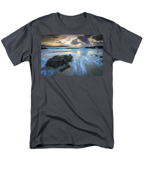 Men's T-Shirt  (Regular Fit) featuring the photograph La Fragata Beach Galicia Spain by Pablo Avanzini