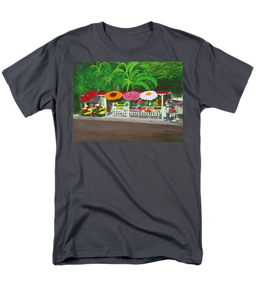 Laguna Beach Flower Stand Men's T-Shirt  (Regular Fit) by Mike Robles