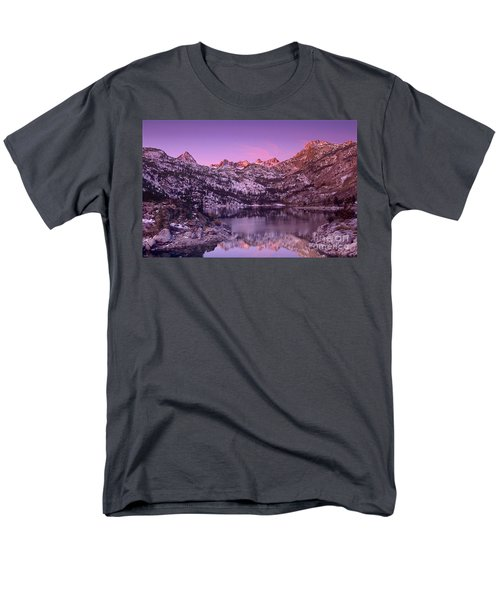 Men's T-Shirt  (Regular Fit) featuring the photograph Lake Sabrina Sunrise Eastern Sierras California by Dave Welling