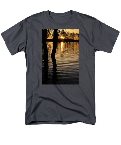 Lake Silhouettes Men's T-Shirt  (Regular Fit) by Julie Andel