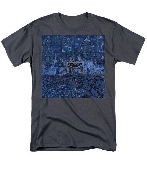 Las Vegas Skyline Men's T-Shirt  (Regular Fit) by Bekim Art